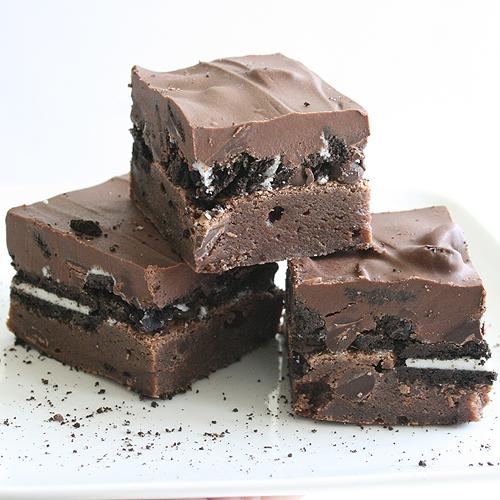 Triple-Chocolate Brownies Recipe — Dishmaps