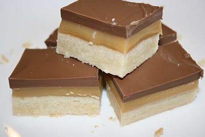 Chocolate Caramel Shortbread Squares