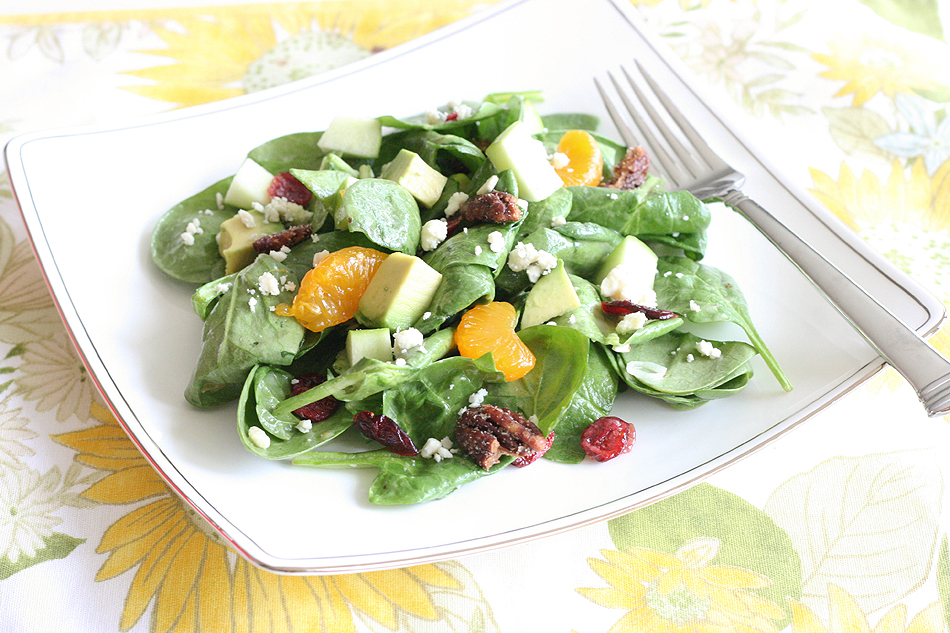 Quick and Easy Spinach Salad
