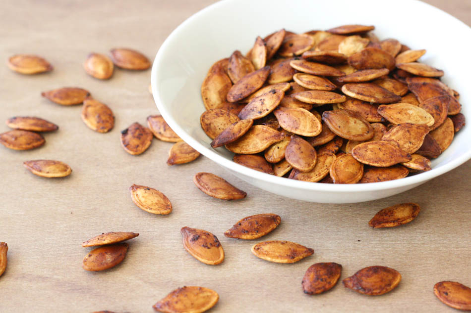 fresh roasted pumpkin seeds
