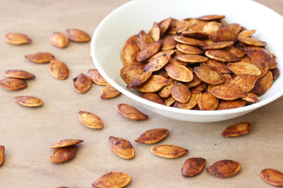 baked pumpkins seeds