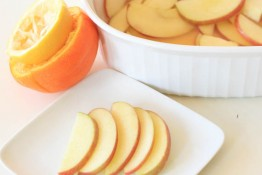 Citrus Soaked Apple Slices